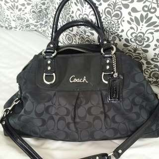 A Chic Black Coach Bag