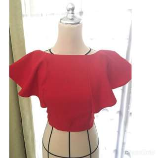 Red Marbella Top