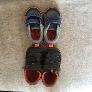 Two Pairs Boys Shoes Size 21/23 UK 4.5
