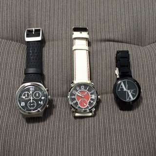 Watches (Swatch, Titus, AX)