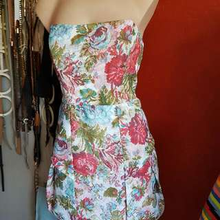 SHEIKE Strapless ...floral Fully Lined Dress ...knee Lenght ...BNWT ...i Have X2 ..x1 Size 12 &x1 Size 14 ....