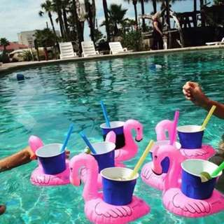 Floating Inflatable Drink Can Holder for Pool, Beach or Bath