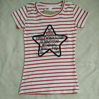 Striped T Shirt New With Tag