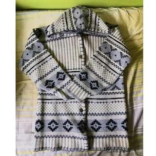 《二手》民族風 長版毛衣外套