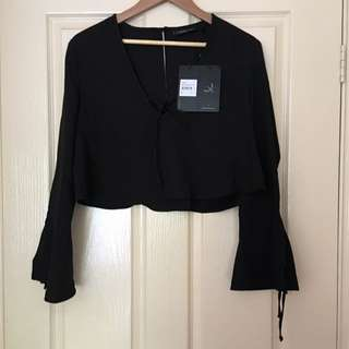 The Fifth Label Long Sleeve Cropped Blouse