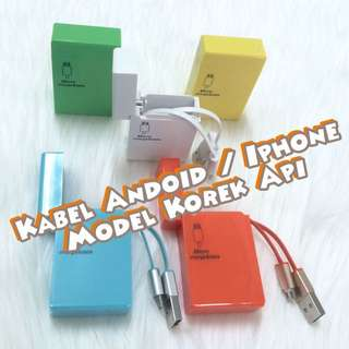 Kabel Charger Bisa Android& I Phone