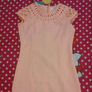 Celest' Peach Dress
