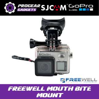 FREEWELL Mouth Bite Kit - with Floaty and Neck Lanyard - For Gopro Hero, SJCAM, Xiaom Yi and all Action Cameras