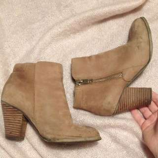 Aldo Faux Soft Leather Bootie