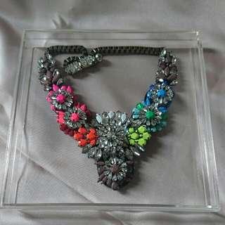 Necklace Rhinestone Rainbow