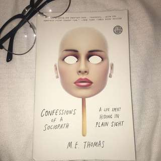 Book- Confessions Of A Sociopath