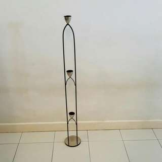 Solid Metal 3 Tealight Candle Stand