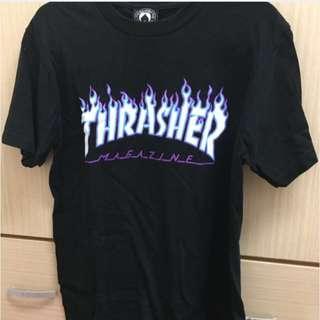 日版 滑板大牌 Thrasher 火焰T 短袖 T恤 潮牌 黑紫限定色