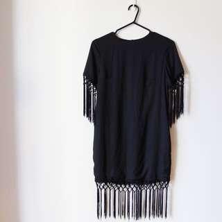 Miss Guided Tassel Shirt Dress