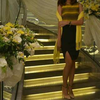 REPRICED! Yellow/black Dress