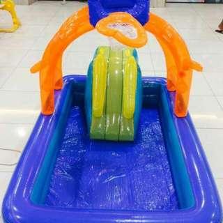 Swimming Pool With Basketball Slide