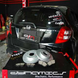 Honda fit GE6: Slotted Rotors+Perforated Holes with Brake Pads
