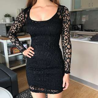 Kookai 1 Lace Netting Dress