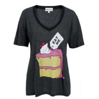 "REDUCED! WILDFOX Wonderland ""Eat Me Drink Me"" Clean Black Oversized T-shirt 