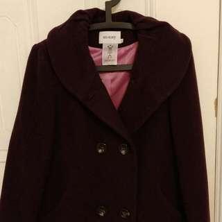 🚚 銀穗專櫃深紫長大衣