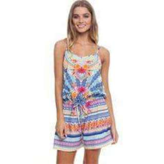 INDIKAH Tropical Henna Print Playsuit | Size 10 | RRP $60