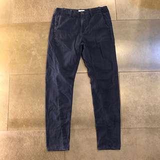 Timberland 上寬下窄3D剪裁修身深藍長褲 30腰