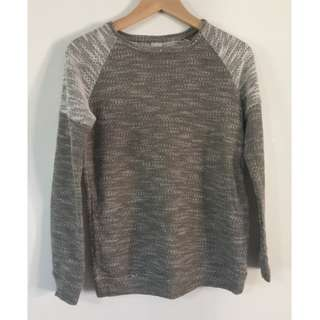 Grey/Green and White Jumper
