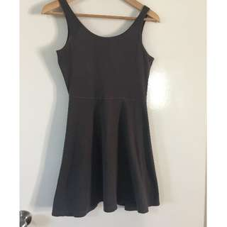 Dark Grey Skater Dress