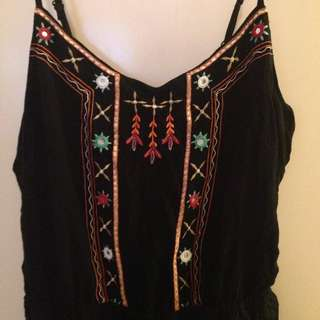 Embellished New Look Playsuit Size 18