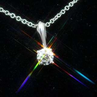 全新周生生出品PT900鉑金IGI證書31份E色VS1頂級切割3EX八心八箭真鑽石吊墜