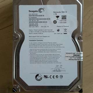 Seagate Barracuda 1TB Hard Disk X 2