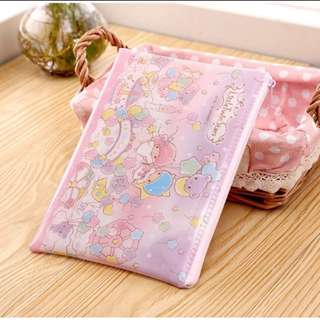 日本帶回~三麗鷗Sanrio 雙子星kikilala 旅行收納袋 小物收納包