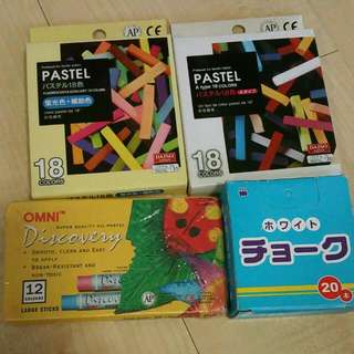 $5 FOR ALL!! Omni Super Quality Oil-pastel With 3 Boxes Of Chalk