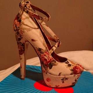 Floral Strappy Stilettos