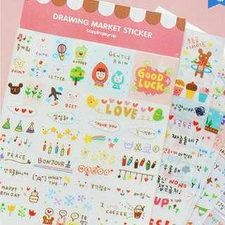 Korean Cute  Sticker For Decorating Planner