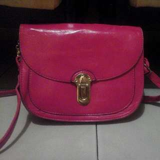 Shocking Pink Sling Bag