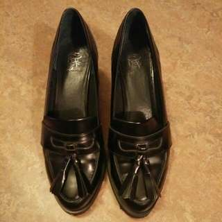 Wittner Black Mid Heel Loafers Eu40