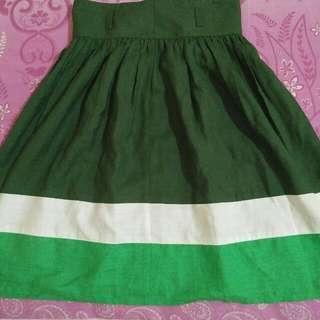 Green White Skirt