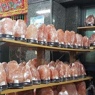 開春好禮 精選招財 最讚的紅寶石招財鹽燈 送燈組  4.1-4.5kg