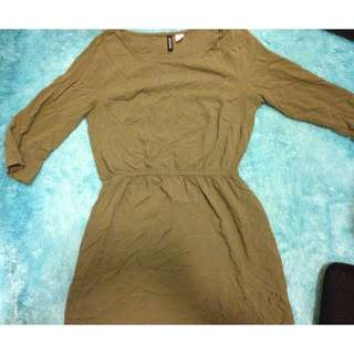 H&M Dress Hijau Tentara