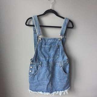 Boohoo Denim Overall Dress