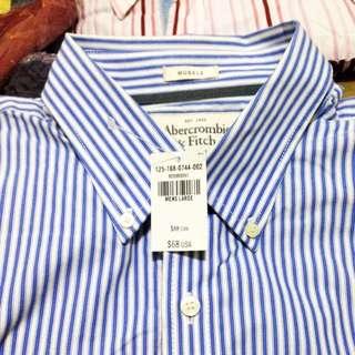 A&F條紋襯衫