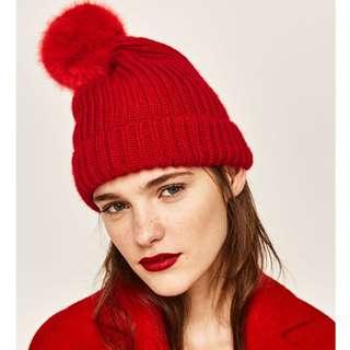 絨球針織帽