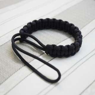 Paracord Wrist Strap (Black) For Camera