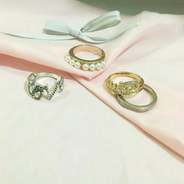 4pcs of Rings