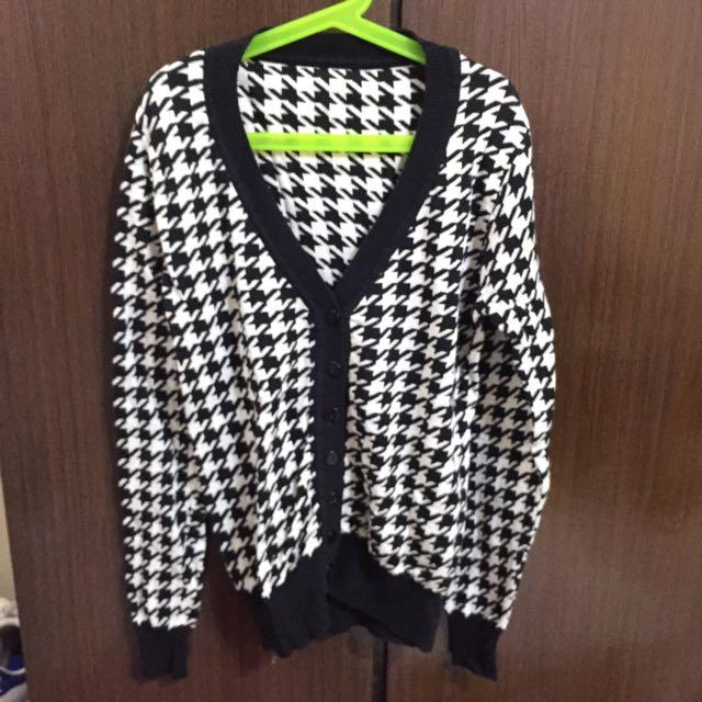 千鳥紋針織外套