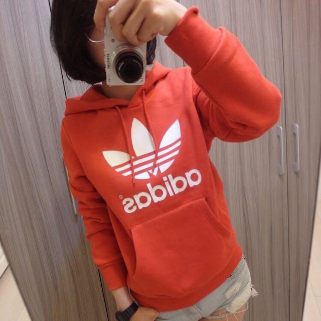 Adidas adidas Originals 橘紅連帽 帽t