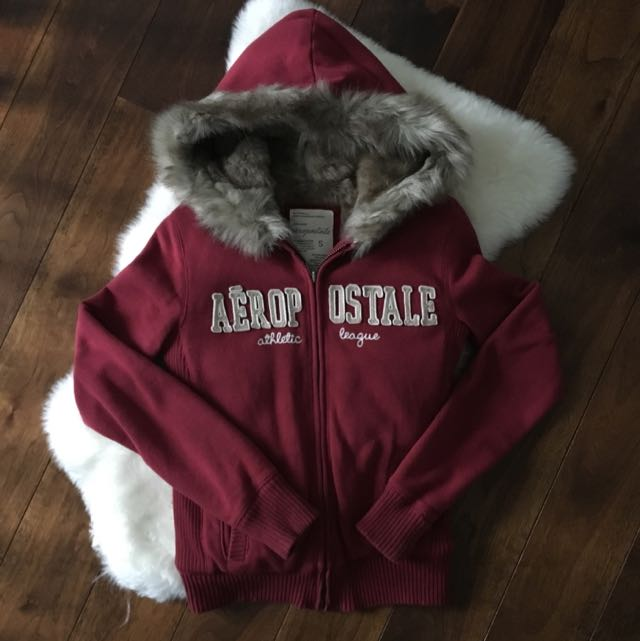 Aeropostale Faux Fur Sweater