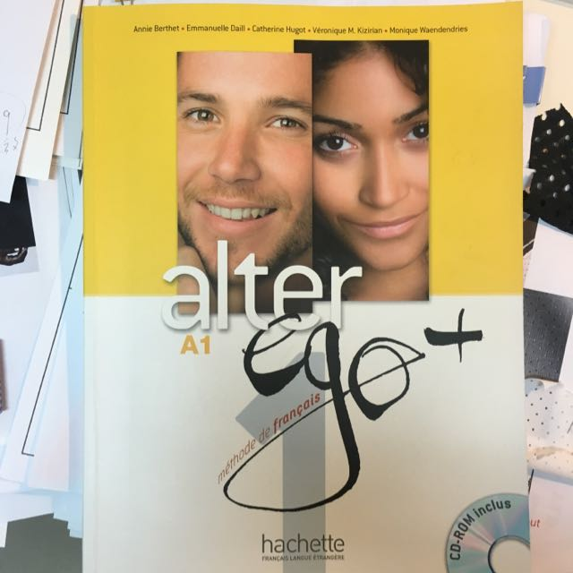 AlterEgo+ 法文教科書 近全新 光碟附 出清 含運