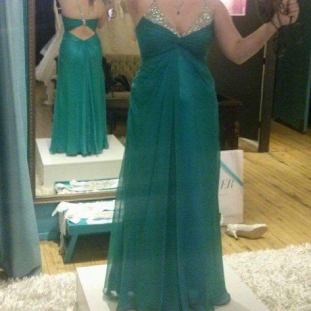 Beautiful teal Prom Dress